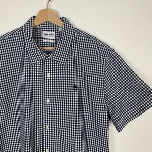 Timberland Navy & White Checkered Men's Button Up